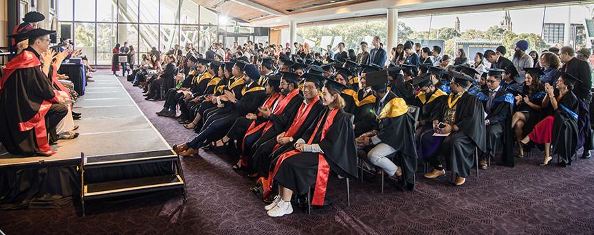 Graduation ceremony in progress