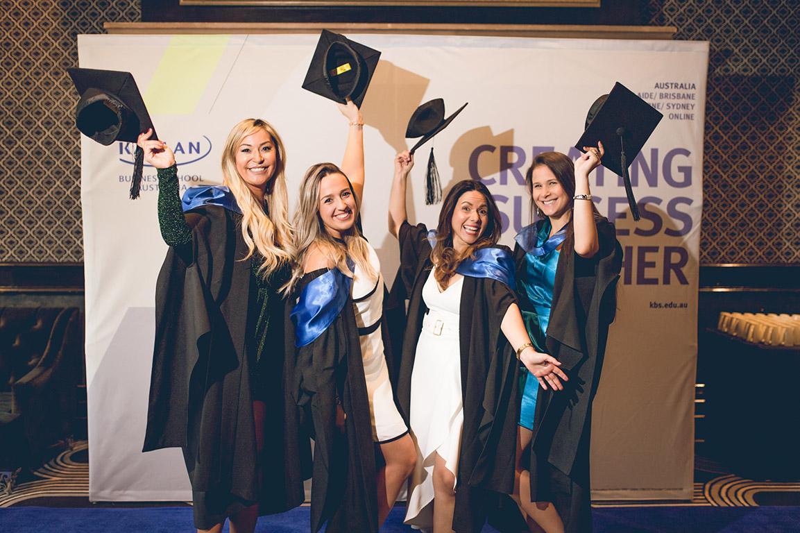 Graduation ladies celebrating