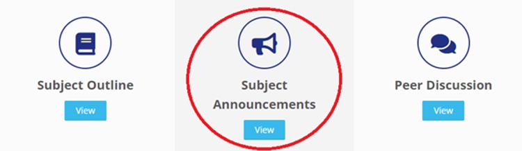 MyKBS Subject Announcements