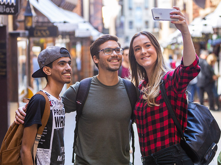 Students in Perth CBD