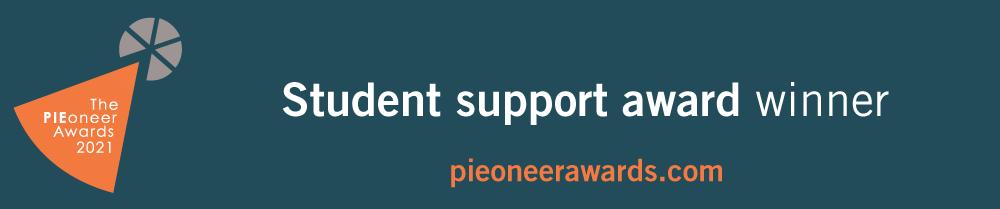 PIEoneer Awards 2021 Student Support Award Winner Banner